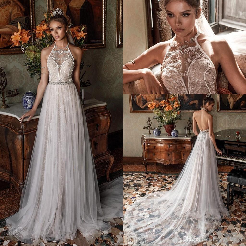 Discount Romantic Modified A Line Wedding Dresses 2019