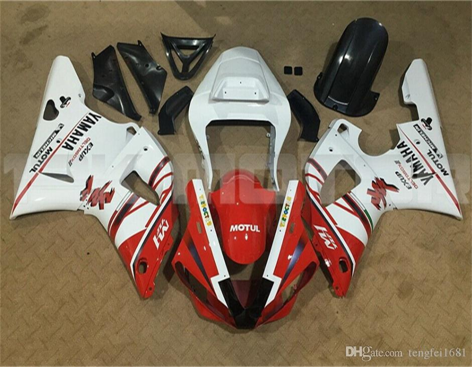 Hot sales New ABS Motorcycle fairings kits Fit for YAMAHA YZF-R1 2000 2001 R1 00-01 Fairing set Cool custom Red White
