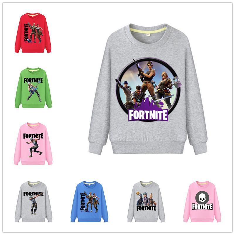 d1944226b 2019 50 Design Game Fortnite Kids 3D Pullover Hoodie Boys Girls Long Sleeve Cotton  Sweatshirts Autumn Winter Children Outwear Tshirts Tops New From ...