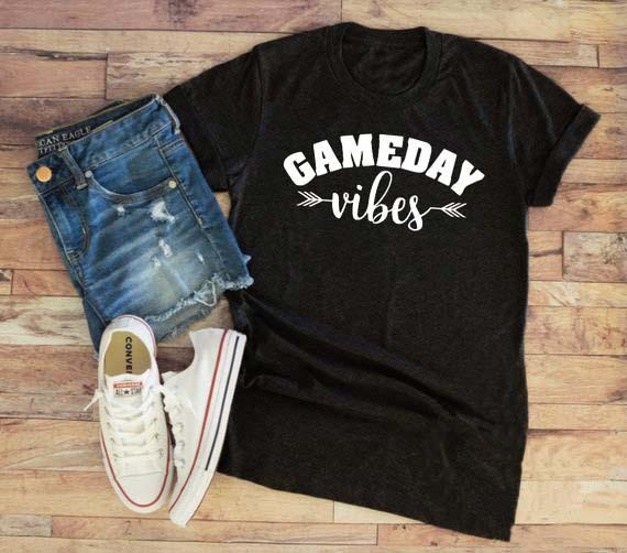 5c54eab0 Summer Hipster Casual Gameday Vibes T Shirt Funny Football Aesthetic Sports Tee  Football Mom Baseball Mom Tops Arrow Vibes Shirt Novelty Tee Shirts Awesome  ...