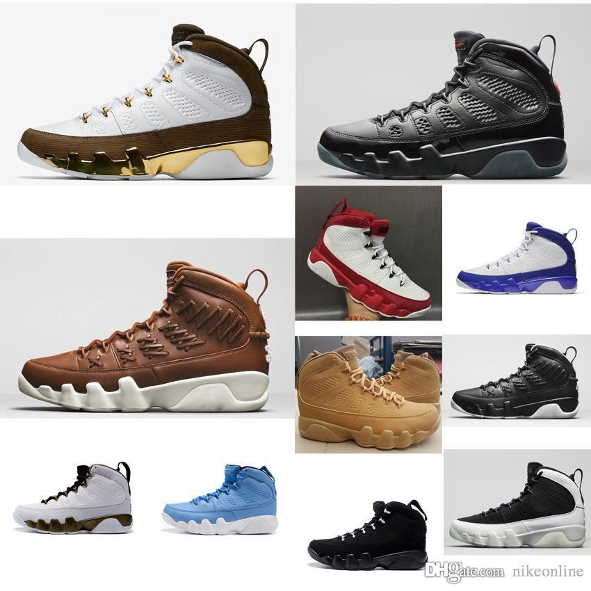 23dc34b75bbc82 2019 Cheap Men Jumpman 9 IX Basketball Shoes 9s Black Red Bred White Gold  Pinnacle Aj9 Air Flights Sneakers Boots J9 For Sale With Original Box From  ...