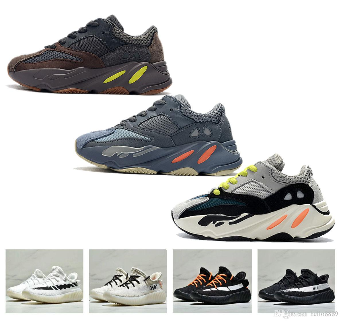 54009d307f1b 2019 2018 New Designer 700 Baby Kanye West 350 V2 Kids Sports Racing Shoes  Boys Girls Children Mesh Outdoor Fashion Walking Sneakers From Hello8889