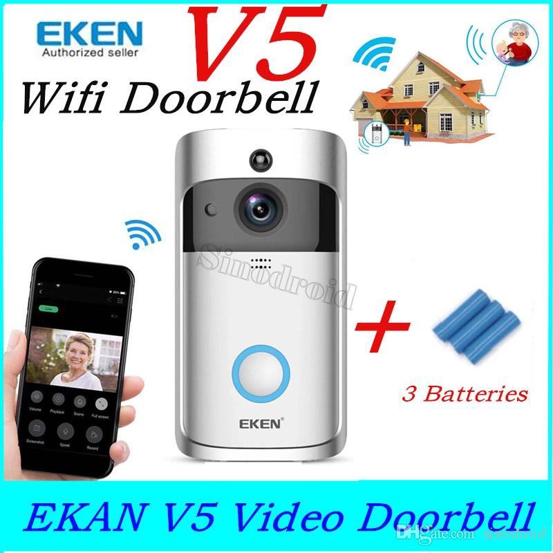 NEW EKEN V5 Smart Video Intercom Video Door Phone Door Bell WIFI Doorbell Camera For Home IR Alarm Wireless Security Camera