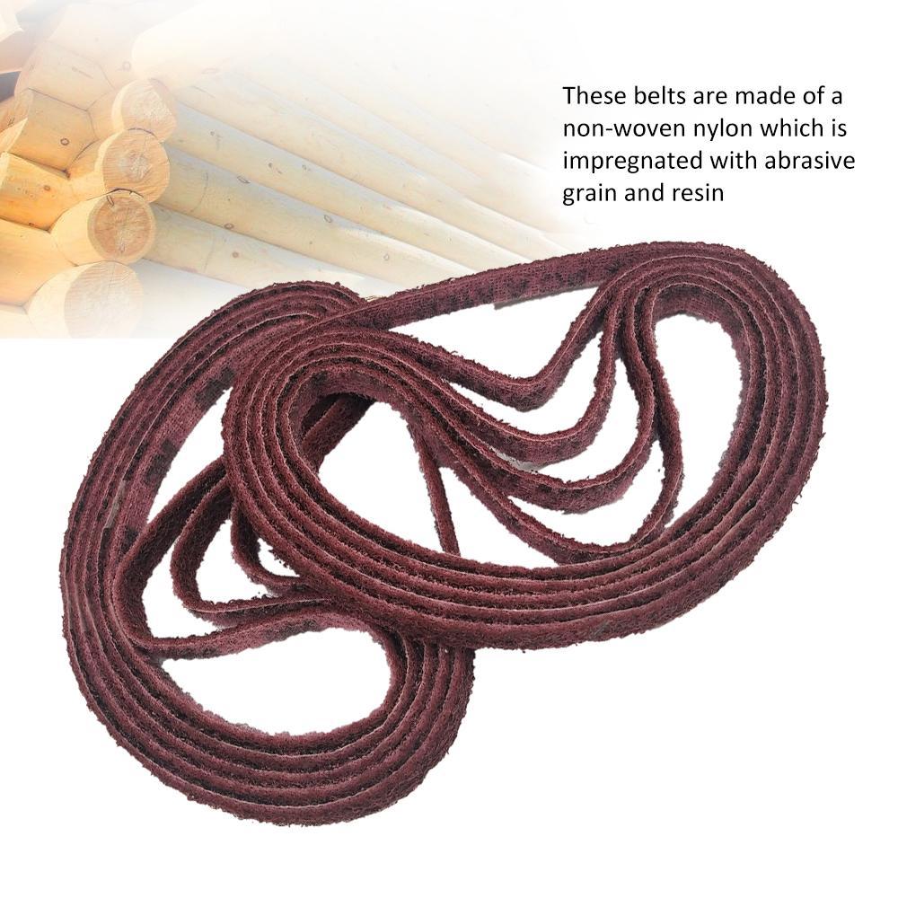 10PCS 520 x 15mm 150/240/400/600 Grits Levigatrice Cintura lucidatura Nylon Cintura sabbia per acciaio inossidabile Lucidatura legno sbavatura