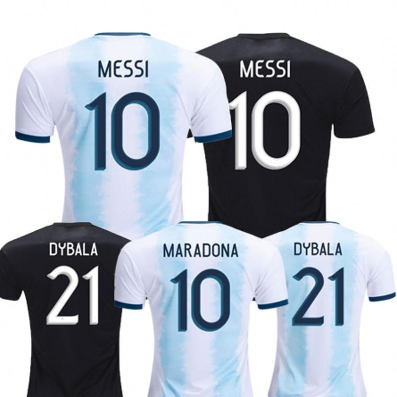 f19e120fa 2019 Argentina Home Away Soccer Jerseys MESSI DYBALA DI MARIA GOMEZ ...