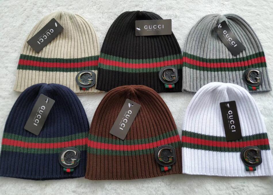 2018 Newest Unisex Winter Brand Big Logo Bee Classic Men Women Knitted Hat  Men Fashion Beanies Gorro Boy Casual Ski Girls Skull Caps Crochet Hats  Headwear ... 69786cbad9ed
