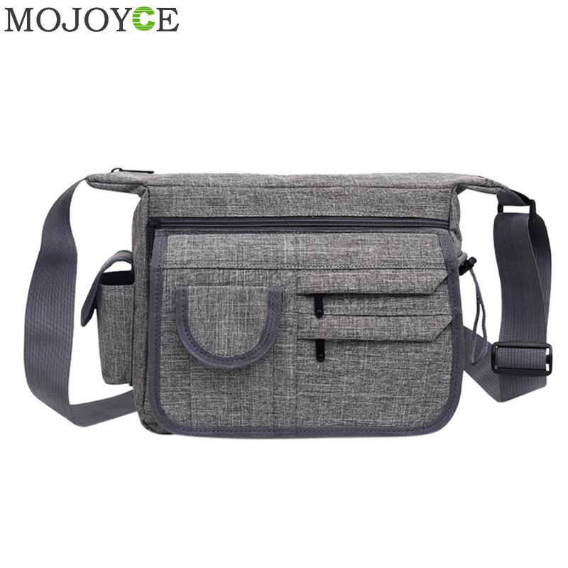 2018 New Fashion Men's Shoulder Bag Vintage Nylon Men Messenger Bag Korean Style Cool Women Waterproof Handbag High