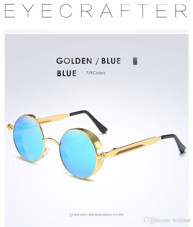 a1b5d29f9b Compre Gafas Redondas De Metal Polarizadas Gafas De Sol Estilo Gótico  Steampunk Moda Para Hombre Retro Vintage Escudo Gafas A $20.86 Del Redjune  | DHgate.