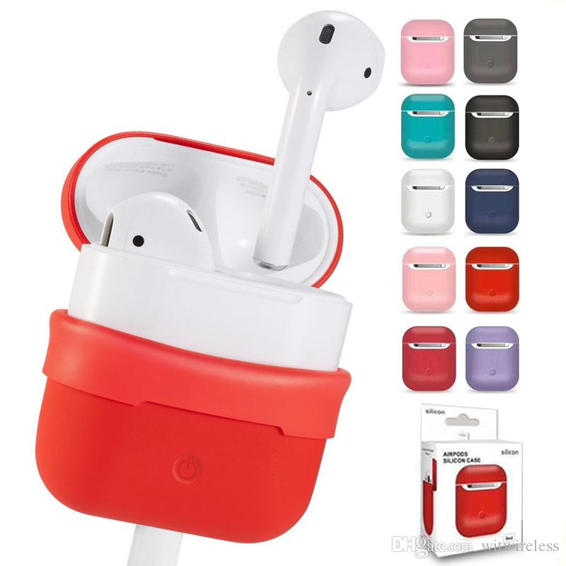 separation shoes 64437 da9bc Protective Silicone Cheap i12 Airpod Charging Case For Apple Airpods Cases  Cover Red Air Pod Accessories Shockproof with Retail Package