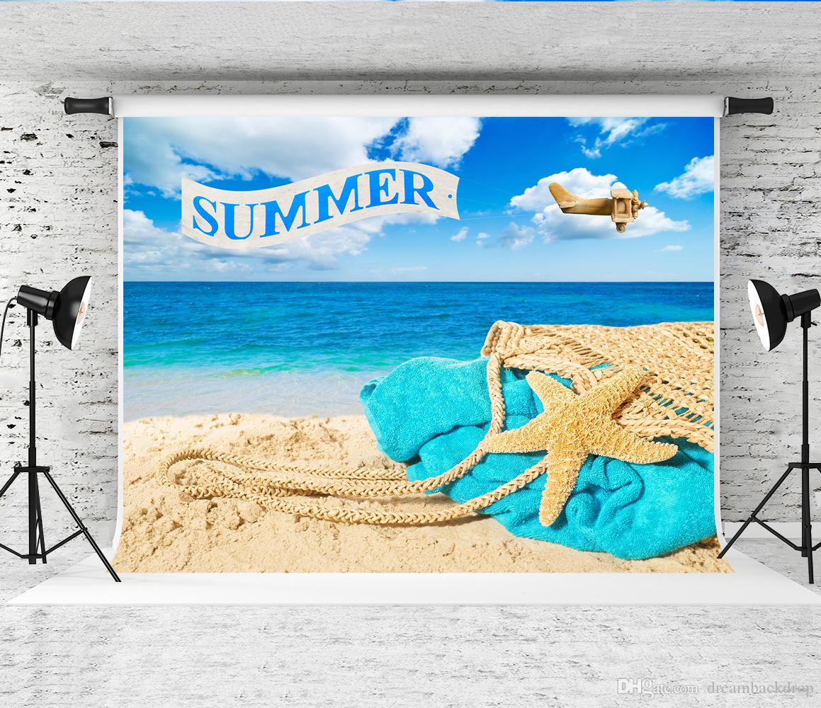 25a2f32409b8 2019 Dream 7x5ft Summer Beach Banner Backdrop Bag Towel Decor Sea  Photography Background For Children Holiday Shoot Backgrounds Photo Studio  Prop From ...