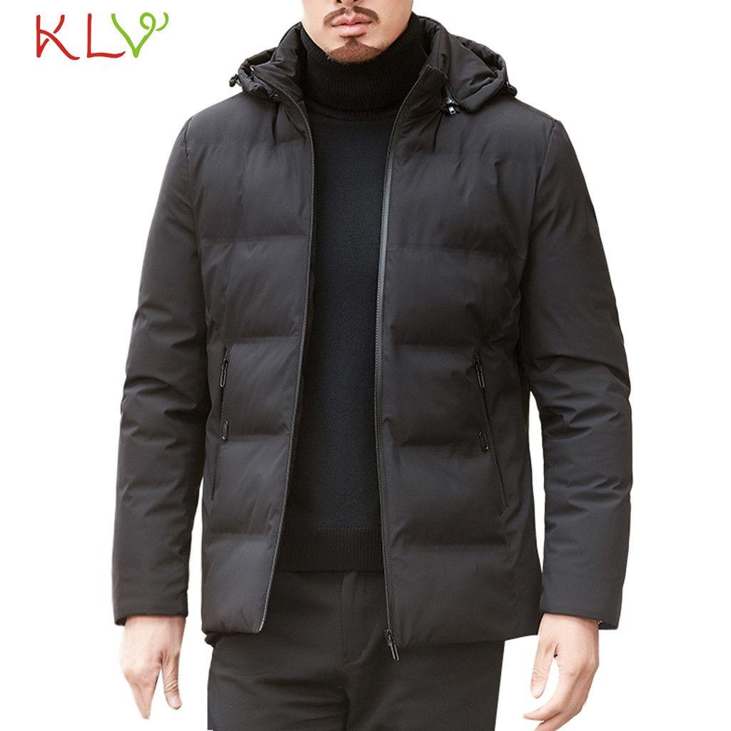 2019 Men Winter Jacket Zipper Parkas Warm Thick Coat Casual Long