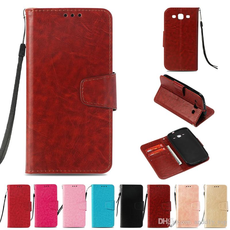 on sale ea2f5 3164a PU Wallet Case For Samsung Galaxy S3 Case Cover for Samsung Galaxy S III  i9300 Flip Cover Kickstand Phone Cases with Card Pocket