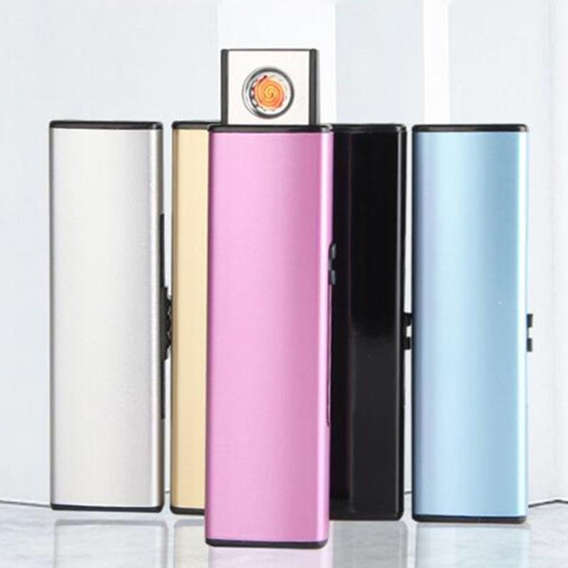 Newest Colorful USB Intelligent Lighter Windproof Mini Flash Disk Shape Cyclic Charging Portable For Bong Cigarette Smoking Pipe Tool DHL