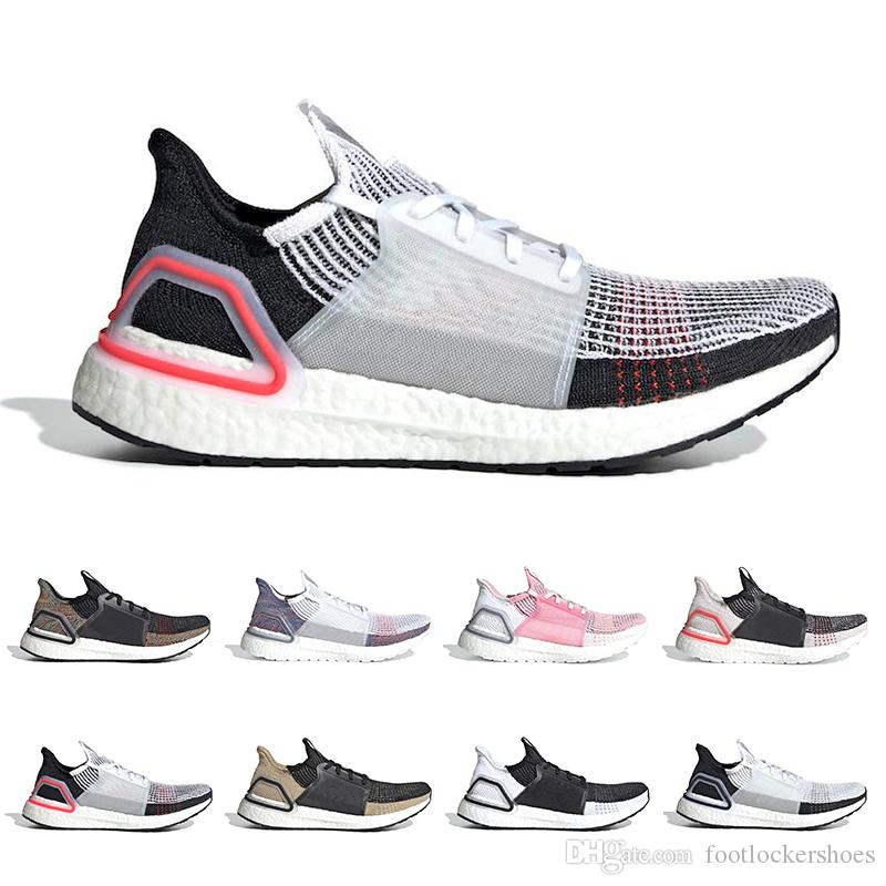 5fba72fa280c5 2019 Ultra Boost 19 5.0 Laser Red Dark Pixel Core Black Oreo Men Women  Running Shoes Ultraboost Trainer Sports Sneakers From Footlockershoes