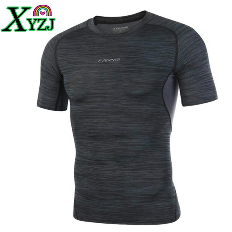 bad566104b Men Bodybuilding Running T Shirt Compression Shirts Quick Dry Gym Fitness  Joggers Crossfit Male Short Skin Tight Tee Tops Clothes Cool Shirts Designs  Pt ...
