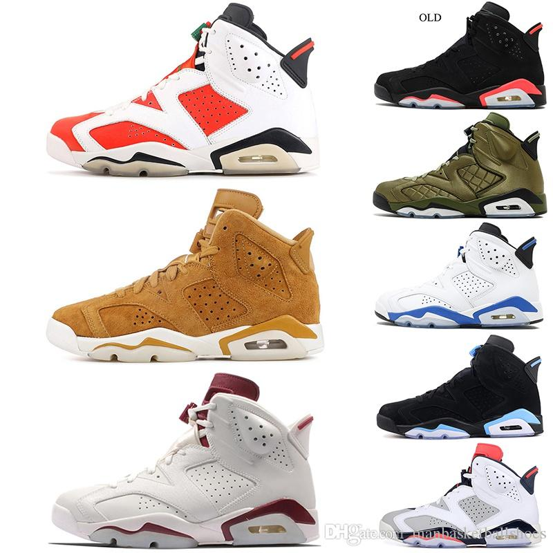 0873d2f08 Top 6 6s Mens Basketball Shoes Gatorade Sport Golden Harvest JSP Reflective  Silver Maroon 2019 New 6s Athletics Sneakers US 7-13 Wholesale Basketball  Shoes ...