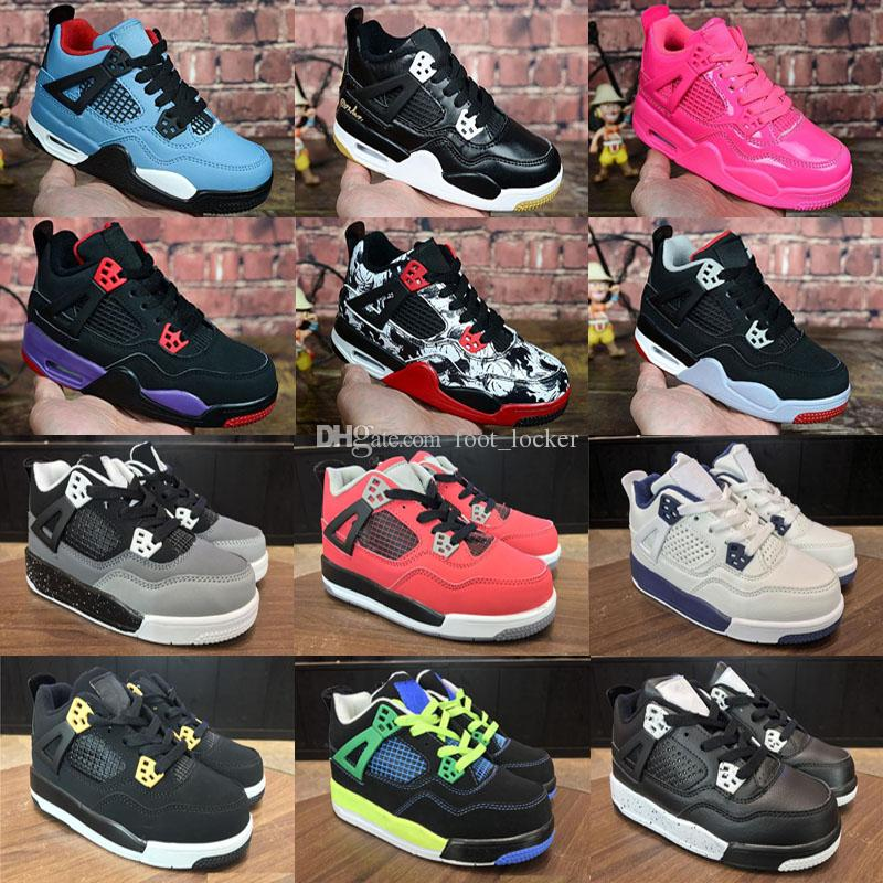 the latest ef585 97ed4 2019 New Children Shoes Basketball Shoes Wholesale New 4 4s Sneakers Kids  Sports Girl Trainers Basketball Shoes Size 28 35 Preschool Tennis Shoes  Running ...