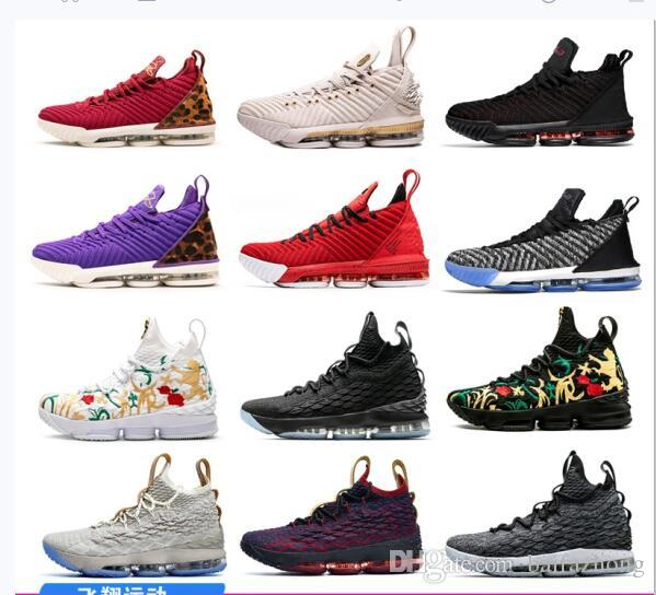 free shipping 8718b 4b89f 2019 New Lebron 15 Mens Basketball Shoes James What the Lebron 16  Multicolor Thru Oreo FRESH BRED tretball Shoes LeBRon 16s Wolf Grey Sports