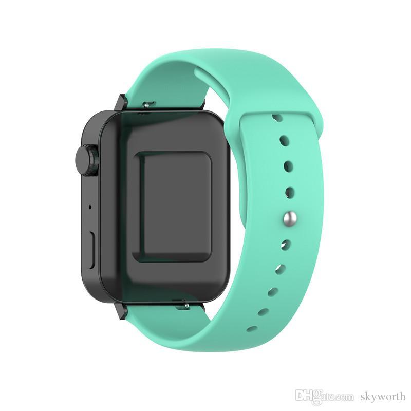 Silikon-Armband für Samsung Galaxy Uhr Active 2 Huawei Honor Magie Watch 2 Xiaomi Uhr Ersatz-Band-Bügel 18mm 20mm 22mm