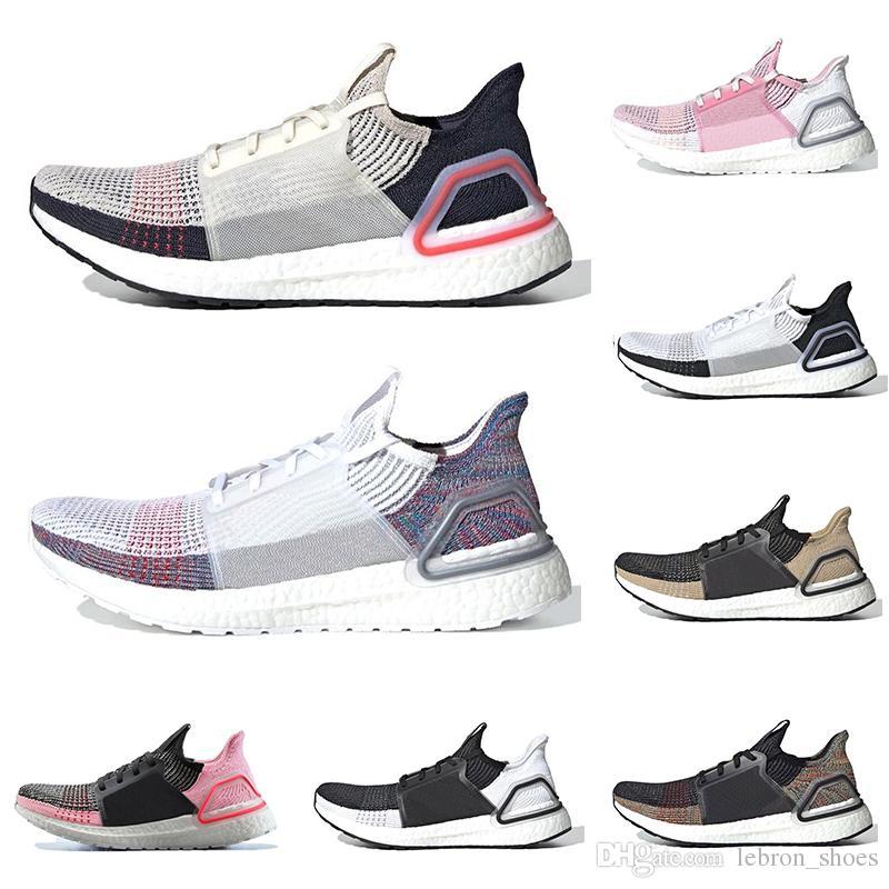 Scarpe Online Uomo Adidas Ultra Boost 19 Sconto 2019 Ultra Boost 19 Uomo Donna Running Shoes Ultraboost 5.0 Triple White Laser Rosso Oreo Athletic