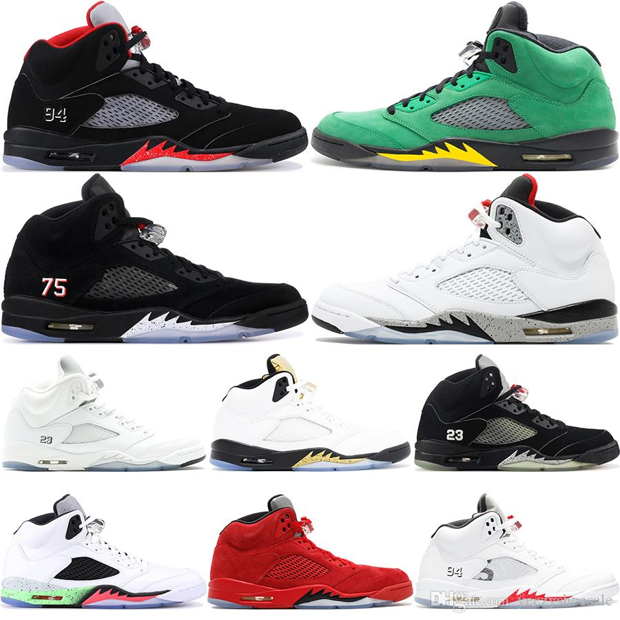62fca2168794 5 Mens Basketball Shoes Wings Blue Red Suede Camo Olympic Gold Light Aqua  Oregon Ducks Black Metallic 5S Designer Shoes Sport Sneakers 40 47 Shoes  Sale ...