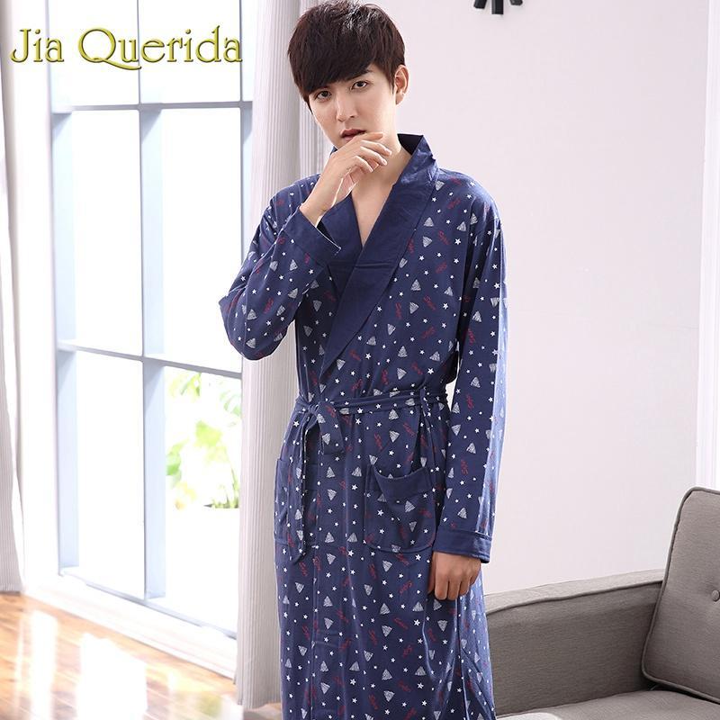 30278d0b11 Großhandel JQ Japanischen Kimono Männer 2019 Frühling Langarm Nachthemd  Mens Robe Baumwolle Kimono Bademantel Baumwolle Männer Kaufen China Direkt  Von Cety, ...