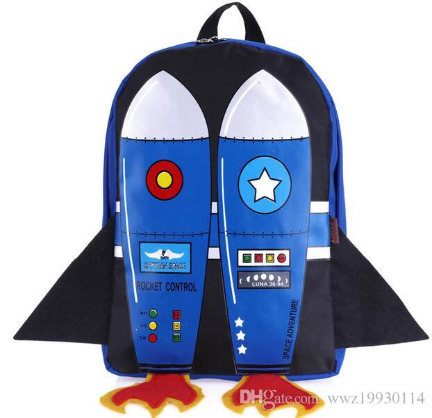 253a24b0f28 Joyloading 3D Cartoon Flying Rocket Design Kids Backpack Students Preppy  Schoolbag Children Pack Back Pack Cute Backpacks From Wwz19930114