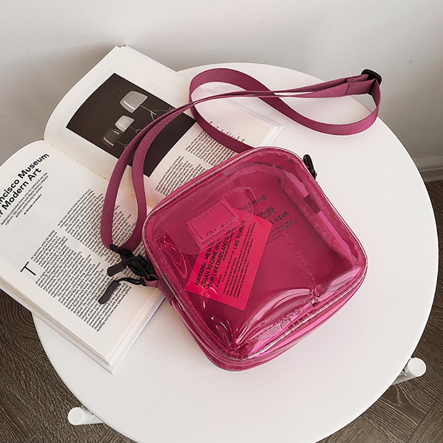 77b59089a Letter Printed Transparent Shoulder Bag For Girl Simple Style Ladies'  Crossbody Bag Japanese Style PVC 2019 Summer Fashion Retro