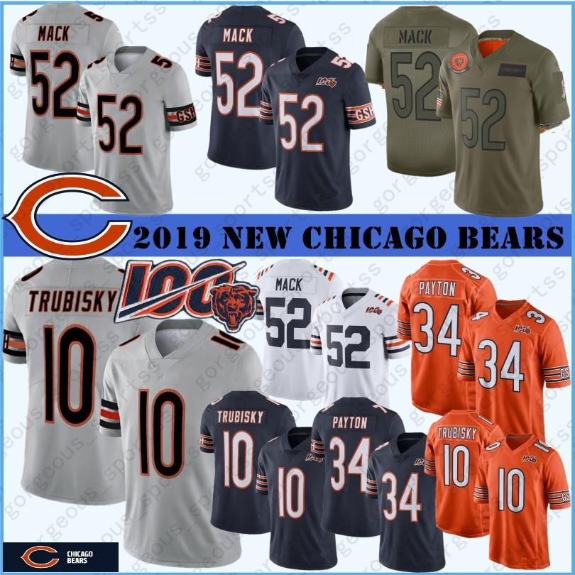 Chicago 52 Khalil Mack Bear Jersey 34 Walter Payton 10 Mitchell Trubisky 89 Mike Ditka 58 Roquan Smith 29 Tarik Cohen New Stitched hot