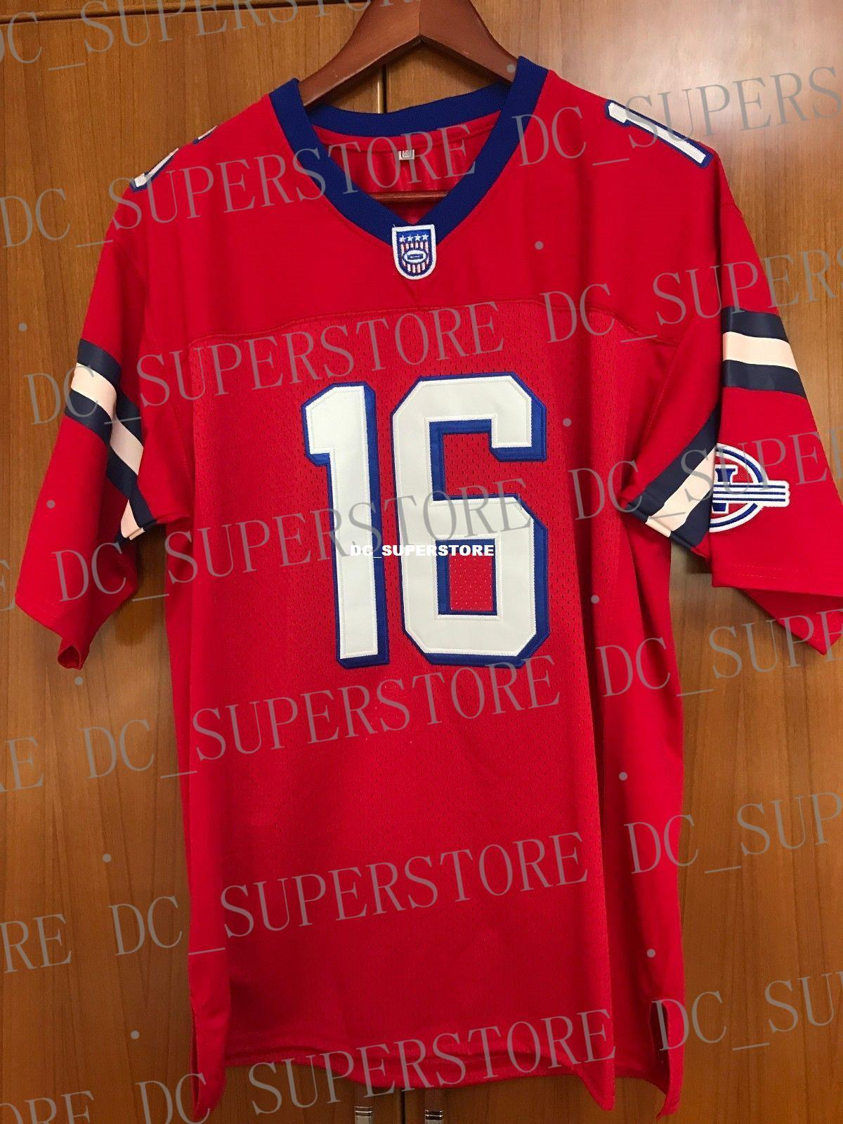 30c33db9068 Cheap Custom Shane Falco  16 The Replacements Football Jersey Red ...
