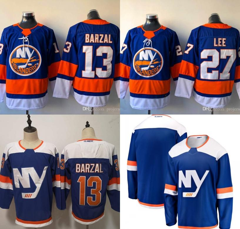 dcaec6b2b 2019 Cheap Mens New York Islanders 13 Mathew Barzal 2018 Third 3rd  Alternate 27 Nick Leddy Hockey Jerseys High Quanlity From Fanatics