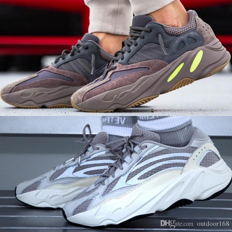 new concept 97e7e a2124 Scarpe Ginnastica Uomo 700 V1 Mauve V2 Static Wave Runner Migliore Qualità Kanye  West Scarpe Da Corsa Uomo Donna Scarpe Sportive 2019 Designer Sneaker Con  ...