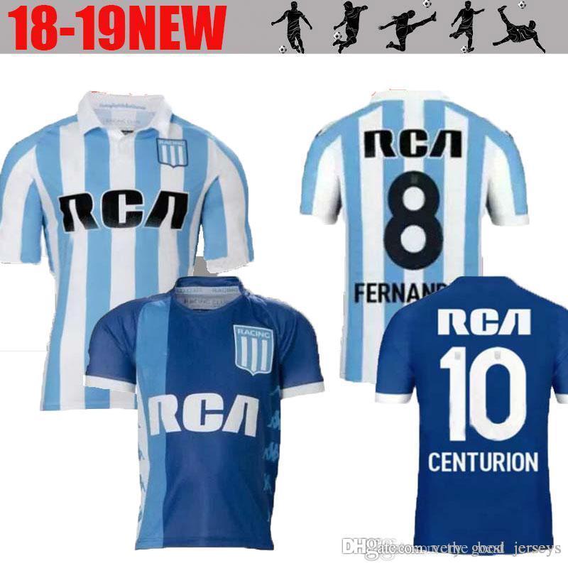 18 19 Camiseta Argentina Racing Club De Avellaneda 2018 2019 Bou 7  Fernández 8 Centurión 10 Camisetas De Fútbol De Calidad Superior Por  Very good jerseys 4713b1d49f58f