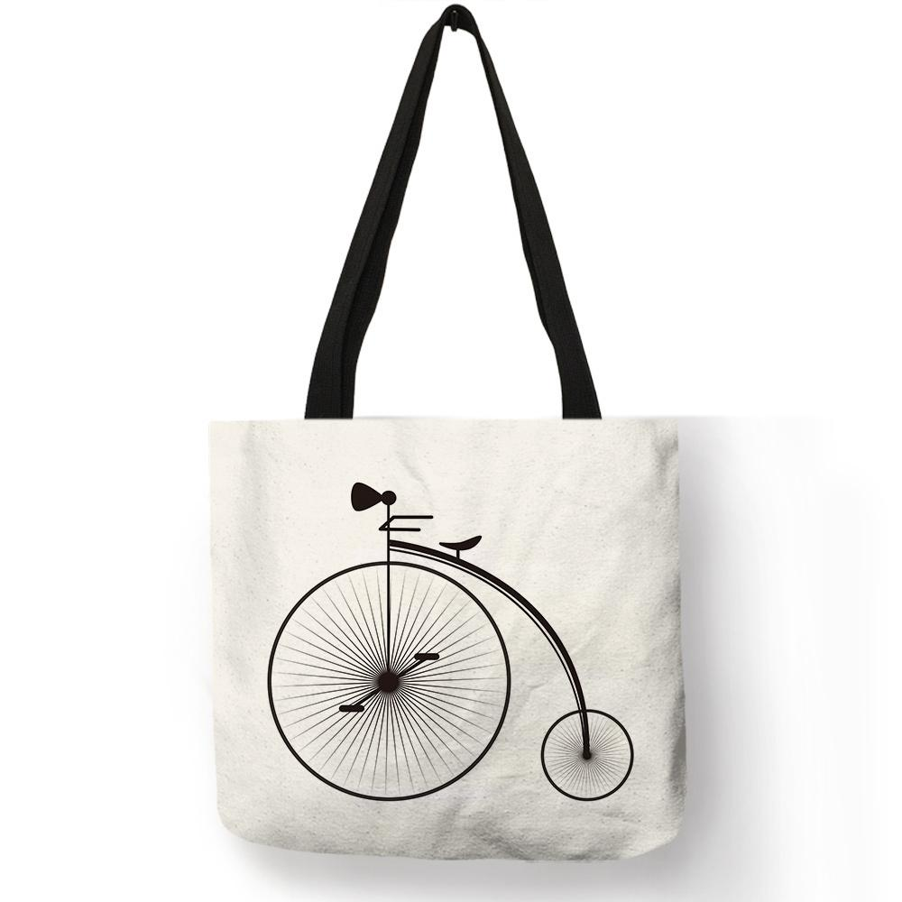 6fc9773862e4 Unique Fresh Bicycle Style Female Shoulder Bag Travel Theme Letter Print  Handbag Girl Students Portable Casual School Book Totes