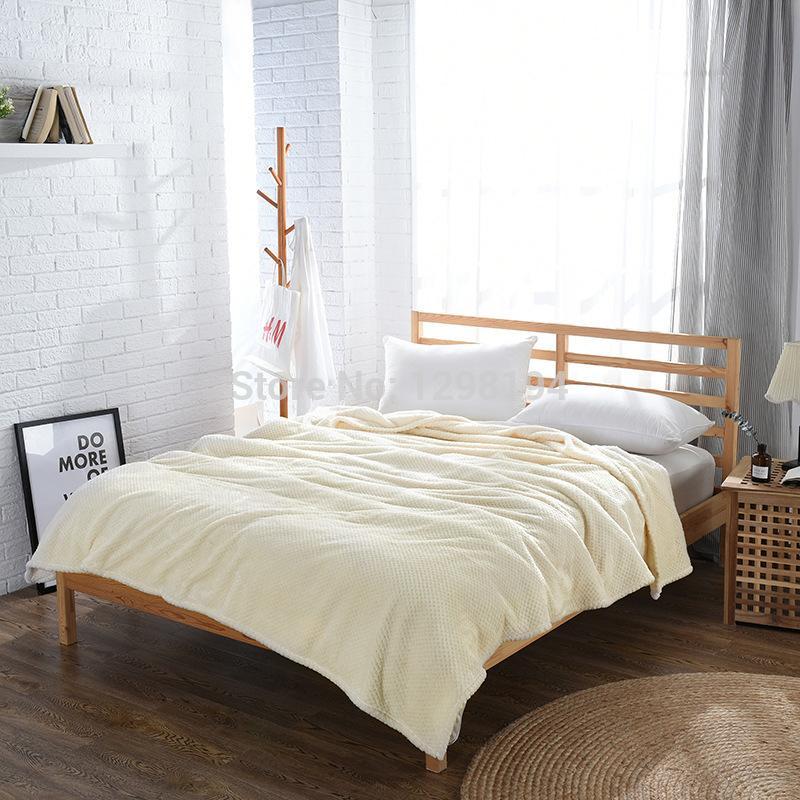 Bedding Plaids Blanket Super Soft Flannel Plush Blanket Throws Quilt ...