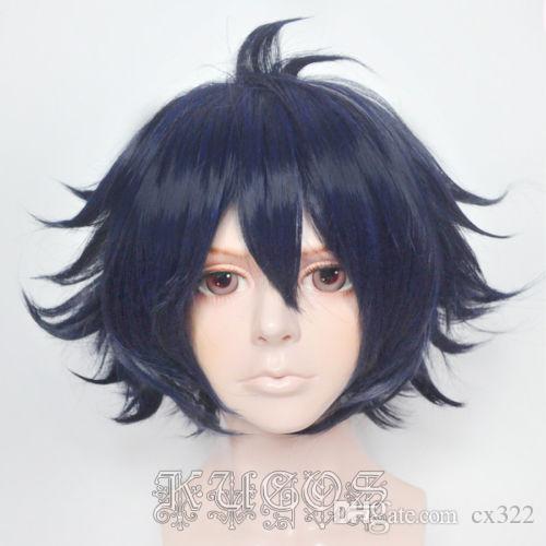 Sara Garandou Short Dark Blue Cosplay Wig Updo Wigs Stocking Cosplay Wig  From Cx322 47ade168e592