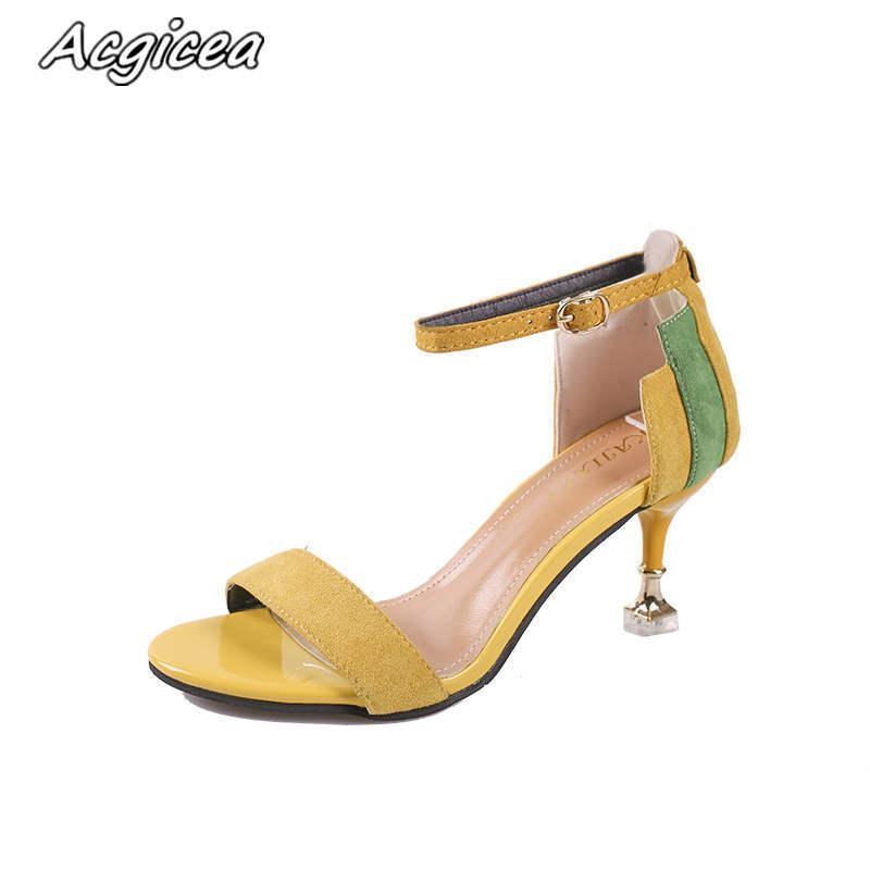 3c7a2e6f Compre Zapatos De Vestir De Diseñador 2019 Nuevo Verano Sandalias De Tacón  Alto Sandalias De Tacón Alto Para Mujer De Moda Con Punta Abierta F004 A  $23.5 ...