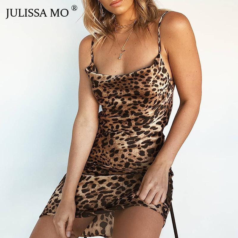 2019 JULISSAMO Leopard Print Sexy Summer Dress Women Spaghetti Strap  Backless Mini Dress 2018 Short Nightclub Party Dress Vestidos Y19012102  From Xingyan01 2c6cc1d20