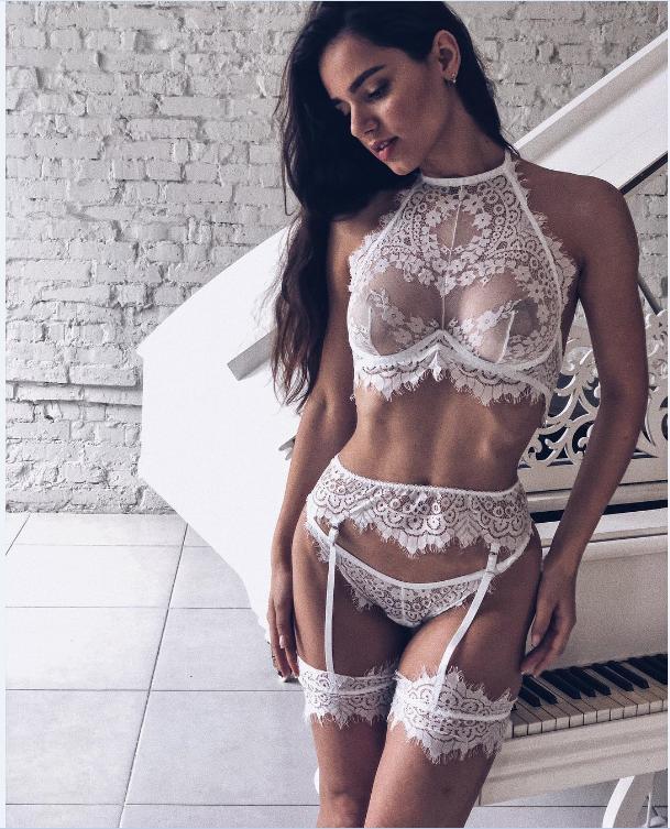 2019 Neue Frauen Sexy-Dessous Nachtwäsche Nachtwäsche Kleid Babydoll Spitze G-string Unterwäsche