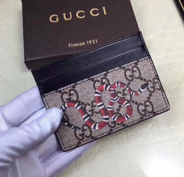 bce1b5da013 Popular European Fashion Men S Leather Wallets Card Holders Bags Print Bee  Tiger Snake Men Small Credit Card Wallets Front Pocket Wallets Flat Wallet  From ...