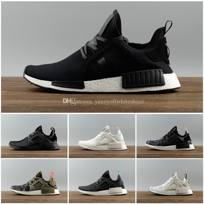 8b885783092db Cheap 2018 NMD R1 OREO Runner NBHD Primeknit OG Triple Black White Camo  Running Shoes For Men Women Beige Runner Sports Shoe EUR 36-45