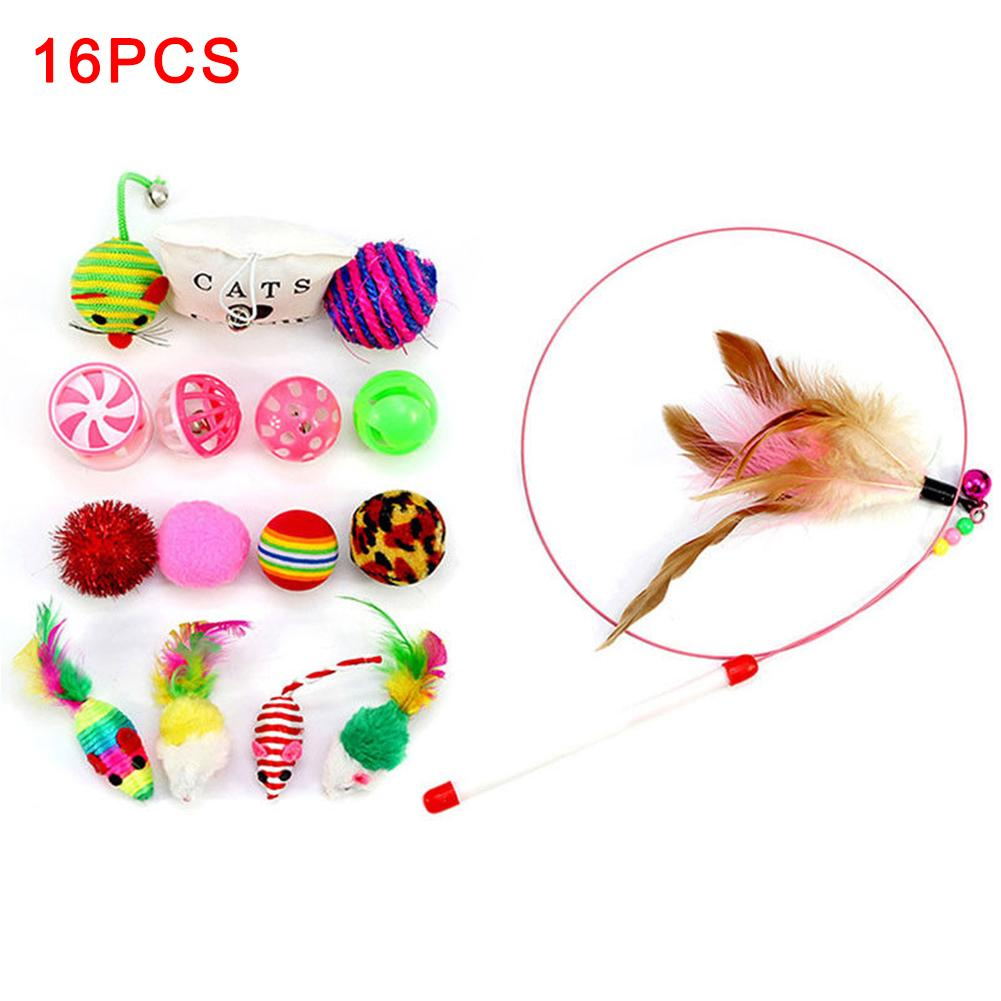 Rod Silmulation Mouse Fur RFID Blocking Bells Cat Teaser Interactive Prop Balls Kitten Toys Feathers Funny Pet Supplies