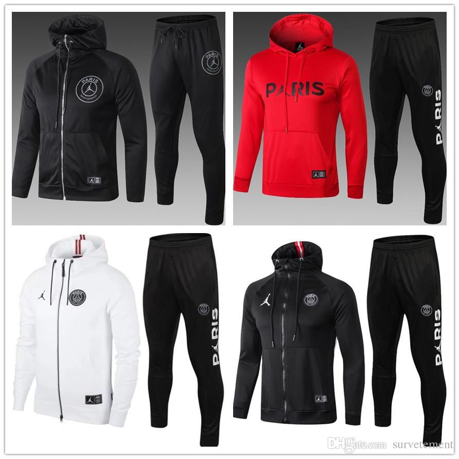 reputable site dc7ee e7149 19 2020 psg Jordam Paris chandal futbol soccer jacket hoodie Champions  League Survetement 19 20 PSG MBAPPE football tracksuit training suit
