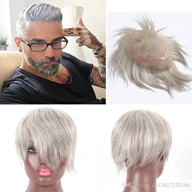 all back style white hair wig ,100% human hair made and handmade human hair white color ,Custom monofilament toupee for men and women