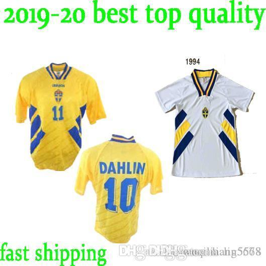 Sweden retro soccer jersey Home yellow IBRAHIMOVIC LARSSON ANDERSSON 94 95 Dahlin Nilsson Lucic Limpar Rehn Mild 1994 Edition