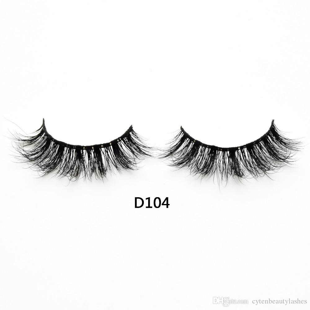 615354f7ad6 3D Real Mink Lashes Fur False Eyelashes Strip Thick Fake Faux Eye Lashes  Makeup Beauty 100% Handmade Glitter Packing With Free Logo D104 Eyelash  Extension ...