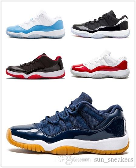 Wholesale New 11 XI high Bred black red Men Basketball Shoes women low cut Sports Sneaker trainers free shipping size 36 47 W30