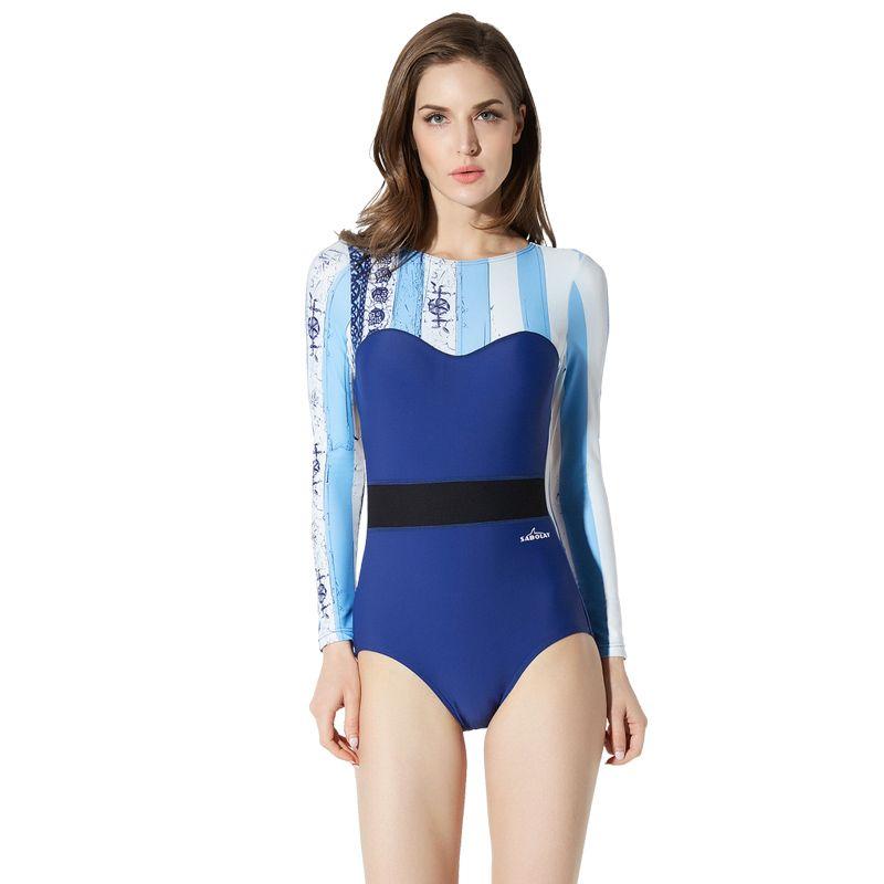5d29e1dedc5 Women One-piece Swimwear Water Sports Sexy Backless Monokini Bathing swim  suit Sexy Quick dry Women Swimsuit M-3XL