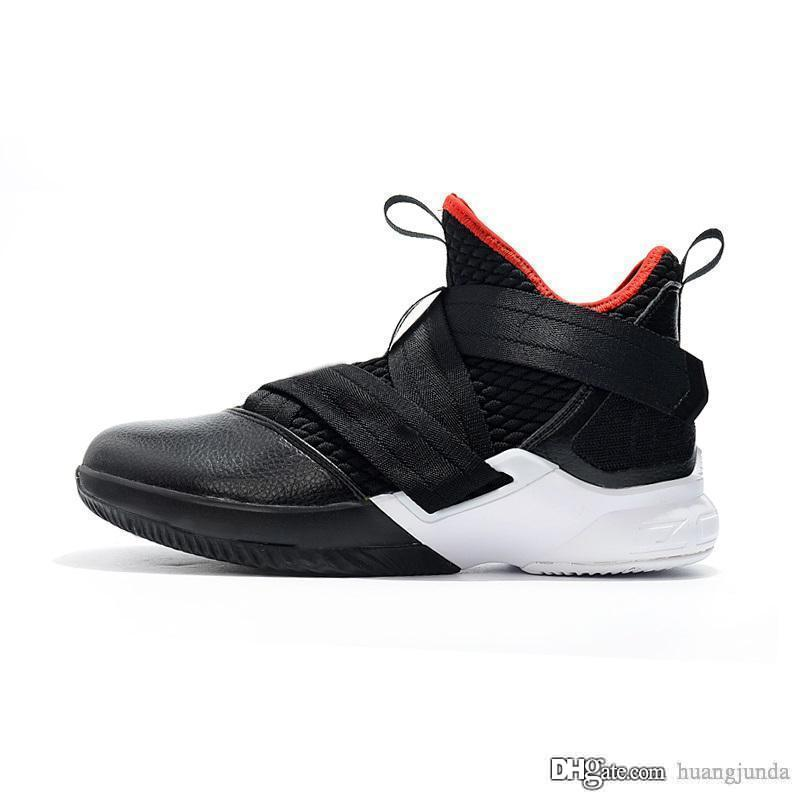 6f778911d91fa 2019 Cheap Mens Lebron Soldier 12 XII Basketball Shoes Black Red White  Brown Navy Gold New Lebrons Soldiers Xii Elite Sneakers Tennis For Sale  From ...