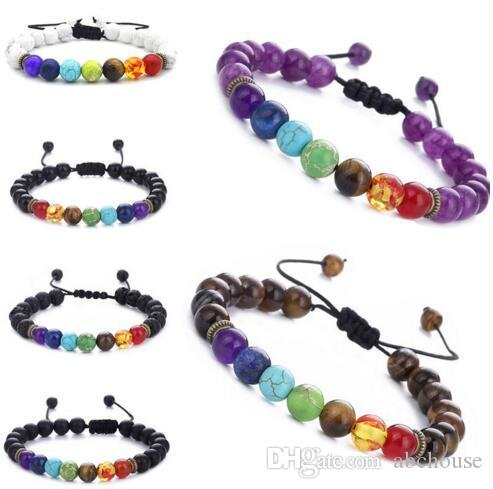 Men/'s Women/'s Beaded Yoga Healing Balance Bracelet Charm Multicolor Bracelets